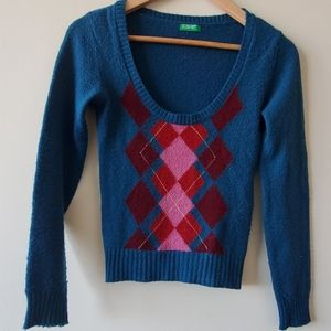 United Colors of Benetton Low Scoop Neck Sweater
